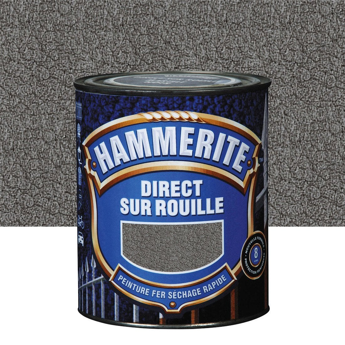 Peinture Fer Extérieur Ardoise 25 L Hammerite Leroy Merlin