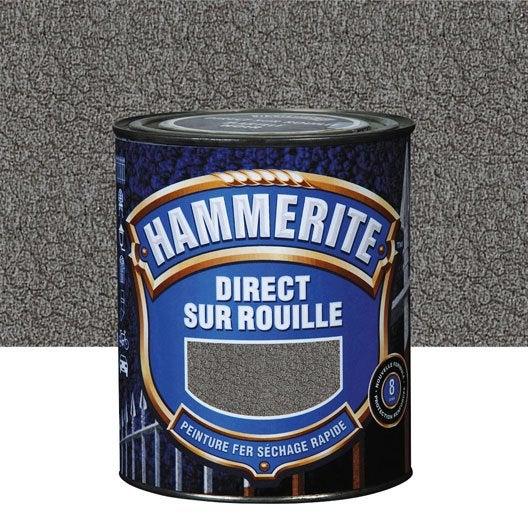 peinture fer extérieur hammerite, ardoise, 2.5 l | leroy merlin