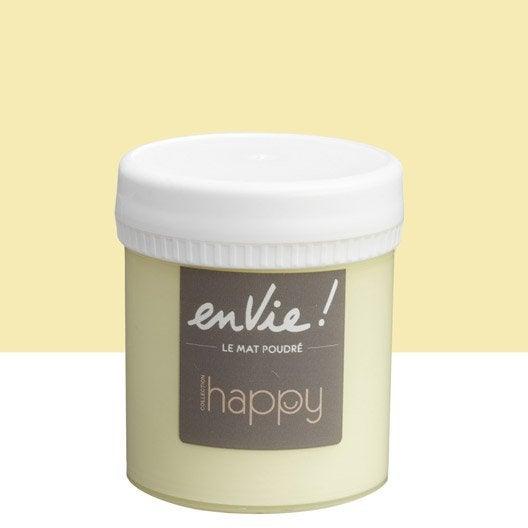 Testeur peinture jaune pop corn LUXENS Envie collection happy 0.075 l