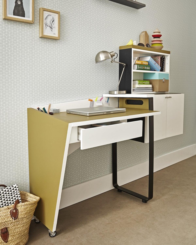 un bureau qui se d place en un clin d 39 il leroy merlin. Black Bedroom Furniture Sets. Home Design Ideas