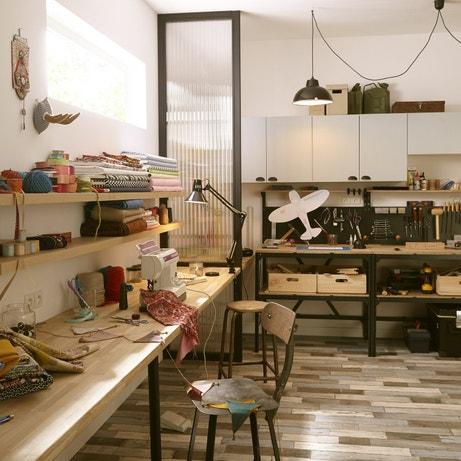 Un atelier très pratique pour coudre et bricoler