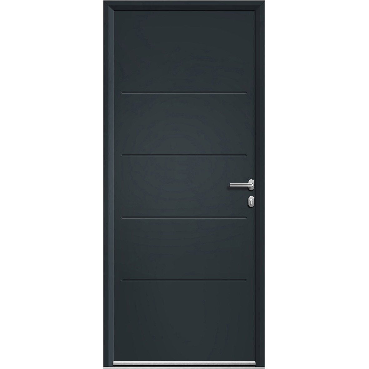 Porte d 39 entr e aluminium lineal gris poussant gauche h - Porte d entree point p ...