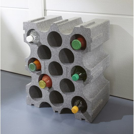 Casier de 15 bouteilles en polystyr ne leroy merlin - Range bouteilles leroy merlin ...