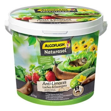 Antilimaces Ferramol limaces ALGOFLASH NATURASOL, Seau 2,5 Kg