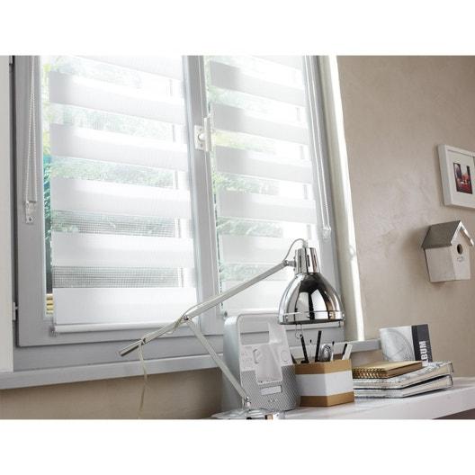 Store enrouleur jour / nuit, blanc Ontario, l.55 x 160 cm | Leroy