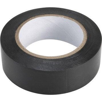 Ruban adhésif noir, L.10 m x l.19 mm