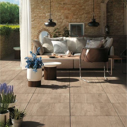 dalle gr s c rame pleine masse siena bois blanc x l. Black Bedroom Furniture Sets. Home Design Ideas