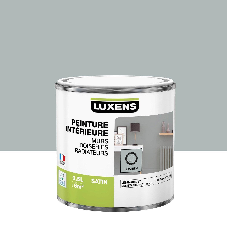 Peinture mur, boiserie, radiateur Multisupports LUXENS, granit 4, 0.5 l, satin
