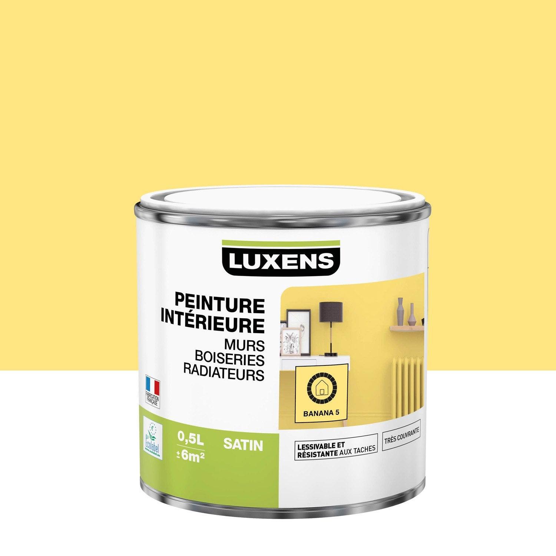 Peinture mur, boiserie, radiateur Multisupports LUXENS, banana 5, 0.5 l, satin