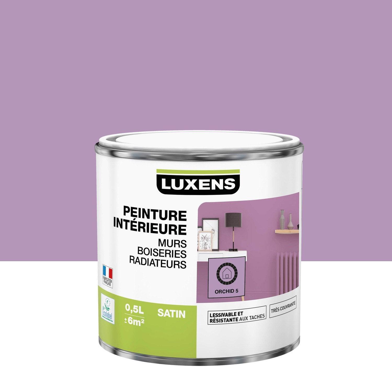 Peinture, mur, boiserie, radiateur, Multisupports LUXENS, orchid 5, satin, 0.5 l