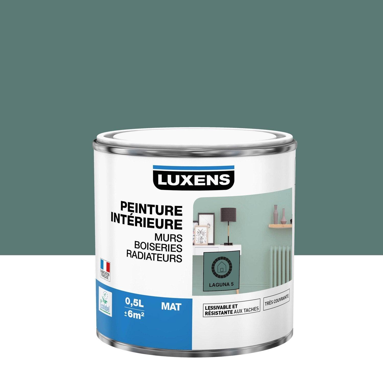 Peinture mur, boiserie, radiateur Multisupports LUXENS laguna 5 mat 0.5 l
