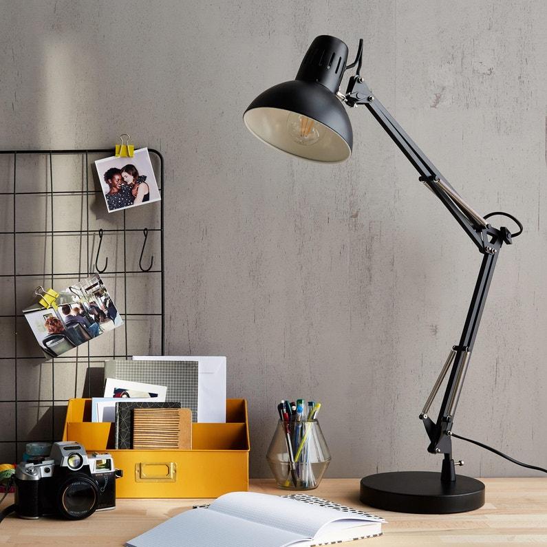 Lampe De Bureau Moderne Metal Noir Commande Inspire Arquitecto