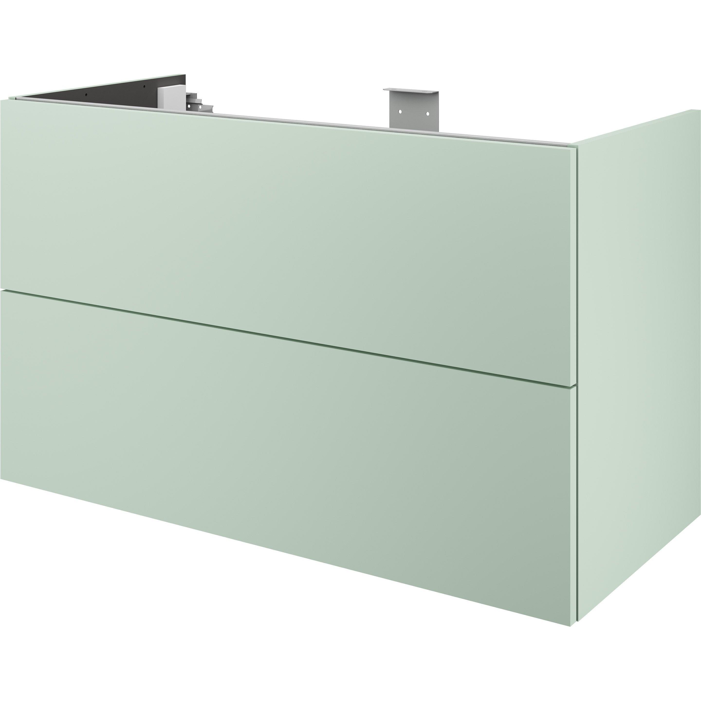 Meuble de salle de bains l.105 x H.64 x P.48 cm, vert sauge 5, Neo line