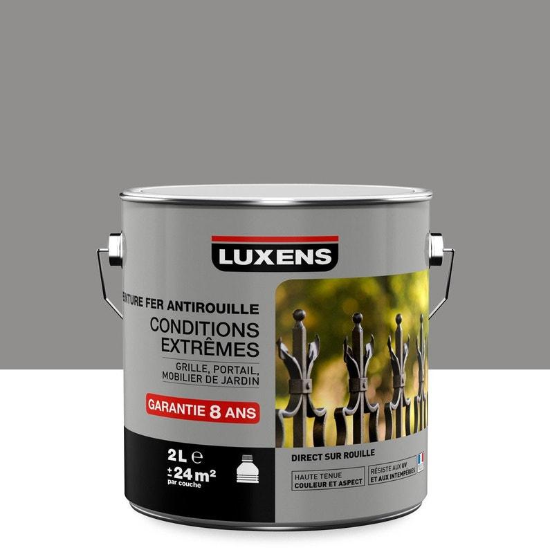 Peinture Fer Extérieur Antirouille Luxens Gris Galet N3 2 L