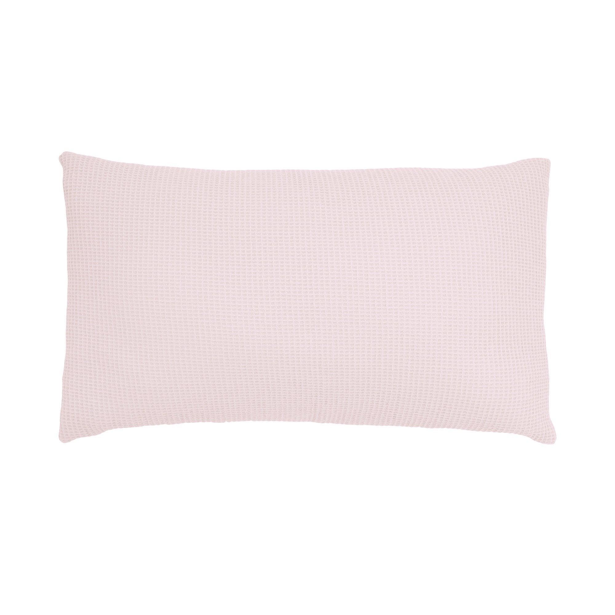 Coussin Mistral, rose poudré l.50 x H.30 cm