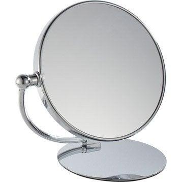 Miroir grossissant x 10 rond à poser, H.20 x l.20 x P.14 cm, Chloé