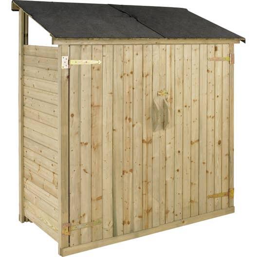 armoire de jardin bois naturelle x x cm. Black Bedroom Furniture Sets. Home Design Ideas