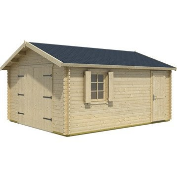 Garage en bois Kunda, 19 m²