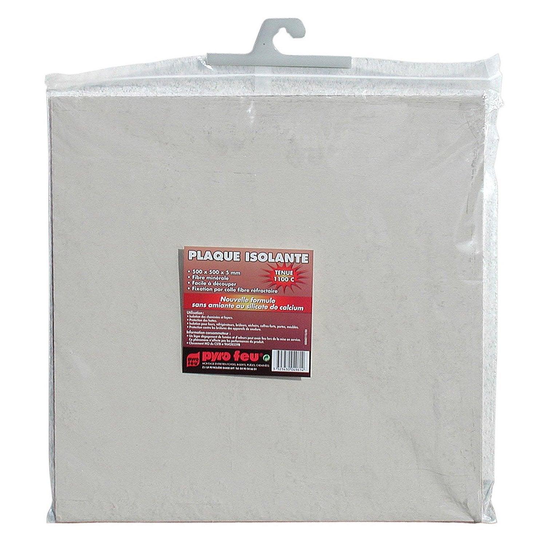 plaque isolante pour hotte en fibre de roche blanc pyrofeu leroy merlin. Black Bedroom Furniture Sets. Home Design Ideas