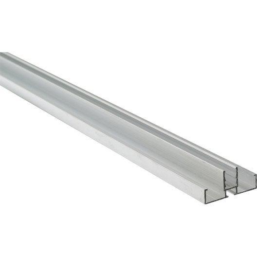 Profil bordure pour plaque ep 10 mm aluminium l 3 m leroy merlin - Plaque polycarbonate 10mm ...