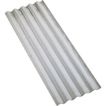Plaque ondulé fibrociment gris l.0.92 x L.1.52 m