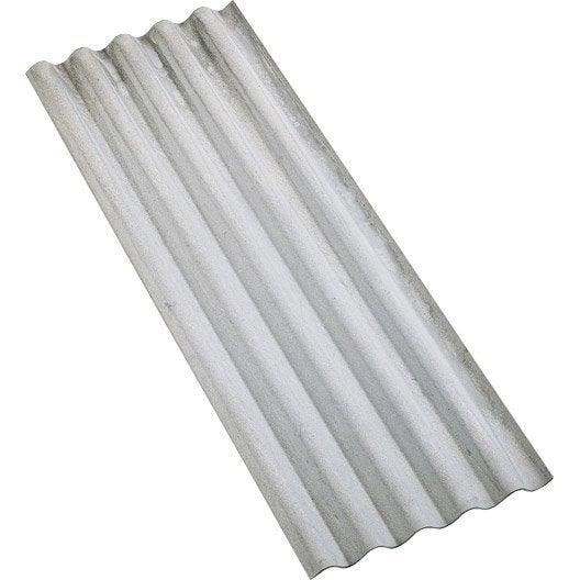 Plaque en fibresciment Gris , 0.92 x 2.5m