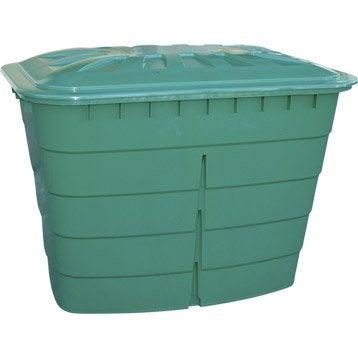 Cuve à eau rectangulaire vert 520 l GARANTIA
