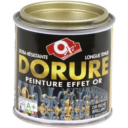 Dorure patin oxytol or riche l leroy merlin - Peinture effet patine ...