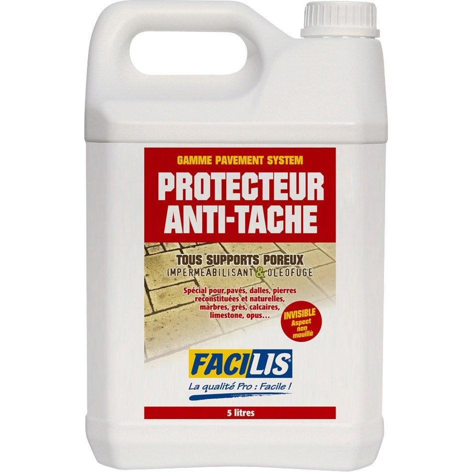 Protecteur pour pierre naturelle facilis 5 l leroy merlin for Produit hydrofuge pour dallage piscine