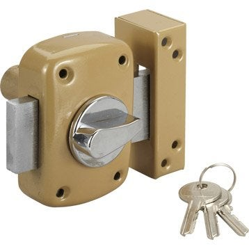 Verrou bouton / cylindre, 45 mm, STANDERS diam. 21, 5 goupilles