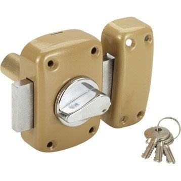 Verrou bouton / cylindre, 60 mm, STANDERS diam. 21, 5 goupilles