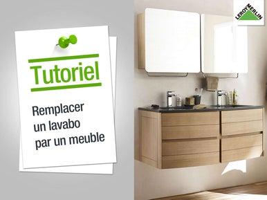 Installer un lavabo ou une vasque leroy merlin for Installer un meuble mural