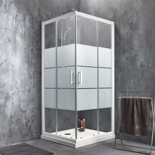 Porte de douche coulissante sensea optima 2 verre - Porte en verre leroy merlin ...