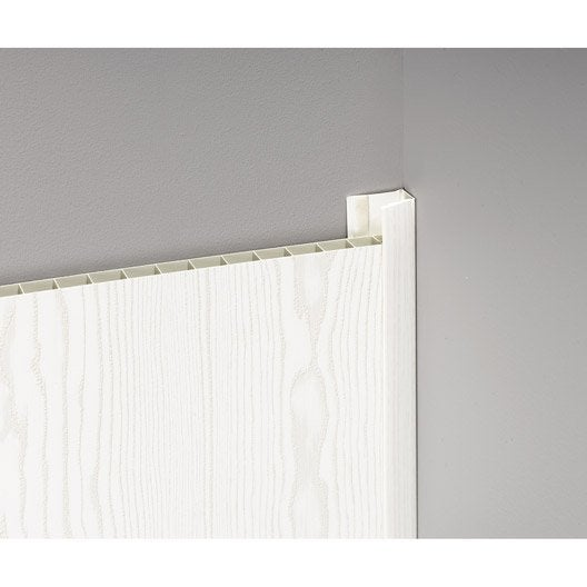 profil de d part et finition pour lambris pvc 5 5 x 2 cm l 2 6 m leroy merlin. Black Bedroom Furniture Sets. Home Design Ideas