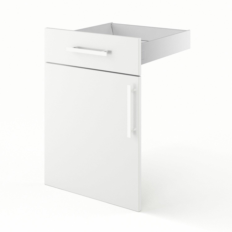 porte et tiroir de cuisine blanc dlice l50 x h70 x p55 cm