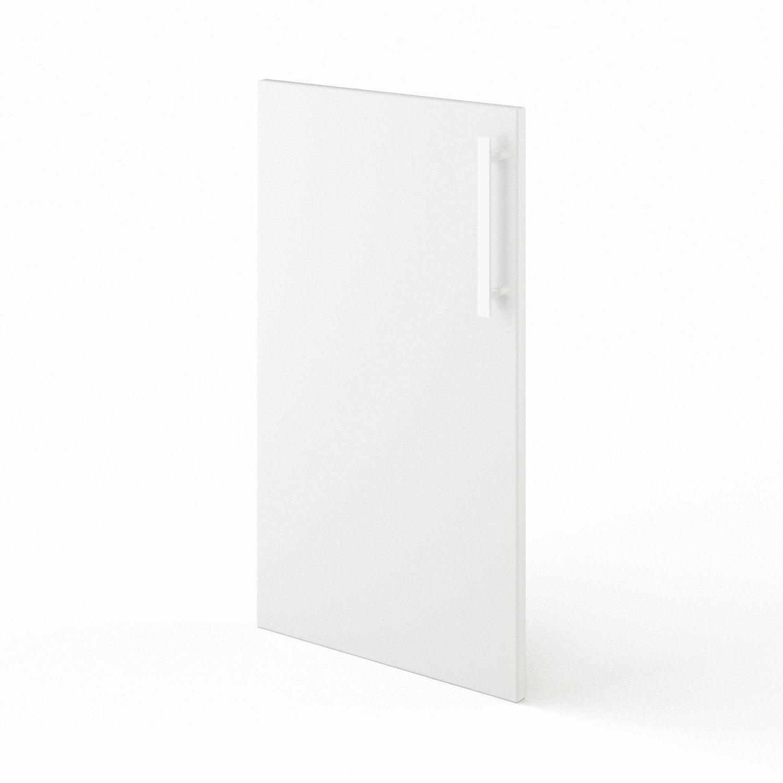 Porte De Cuisine Blanc Délice L X H Cm Leroy Merlin - Porte element cuisine