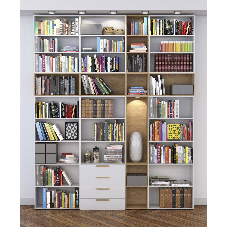 Biblioth Que Spaceo Home Effet Ch Ne Leroy Merlin # Exemple De Bureau Bibliotheque En Chene Massif