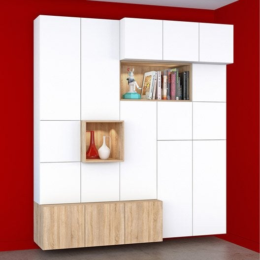 Am nagement tag re et rangement modulable spaceo home leroy merlin - Leroy merlin bibliotheque ...