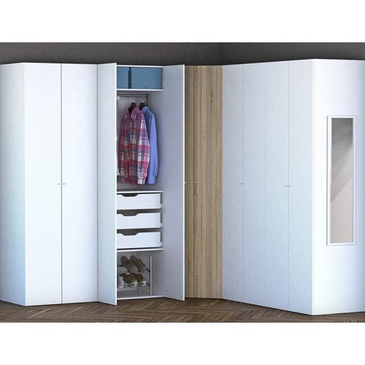 Dressing spaceo home effet ch ne leroy merlin - Meuble sur mesure leroy merlin ...