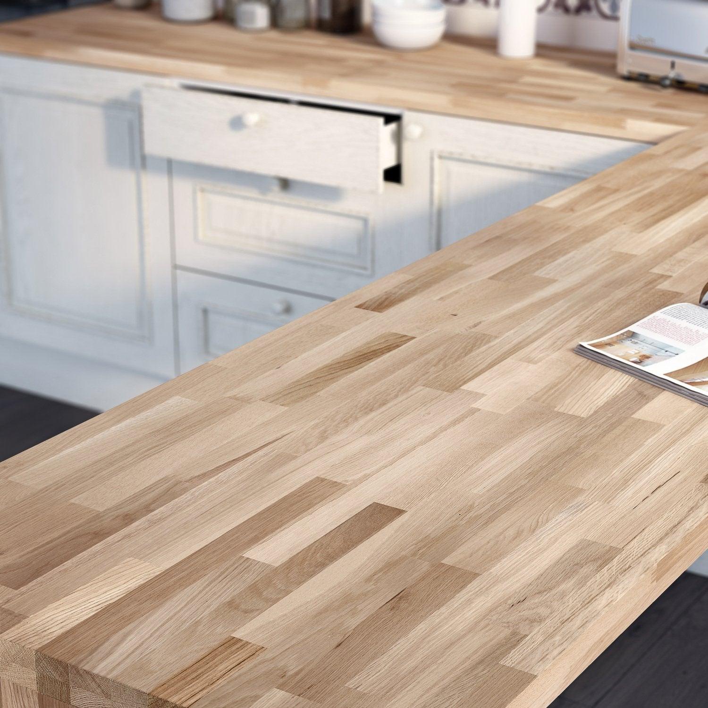 Plan De Travail Pas Cher Bois du bois hêtre pour votre plan de travail de cuisine | leroy