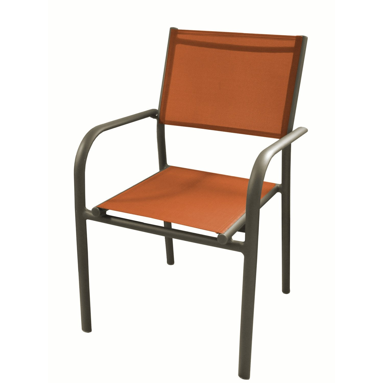fauteuil de jardin en aluminium duca paprika leroy merlin. Black Bedroom Furniture Sets. Home Design Ideas
