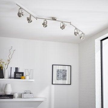 Rampe 6 spots sans ampoule, 6 x GU10, acier Technic INSPIRE
