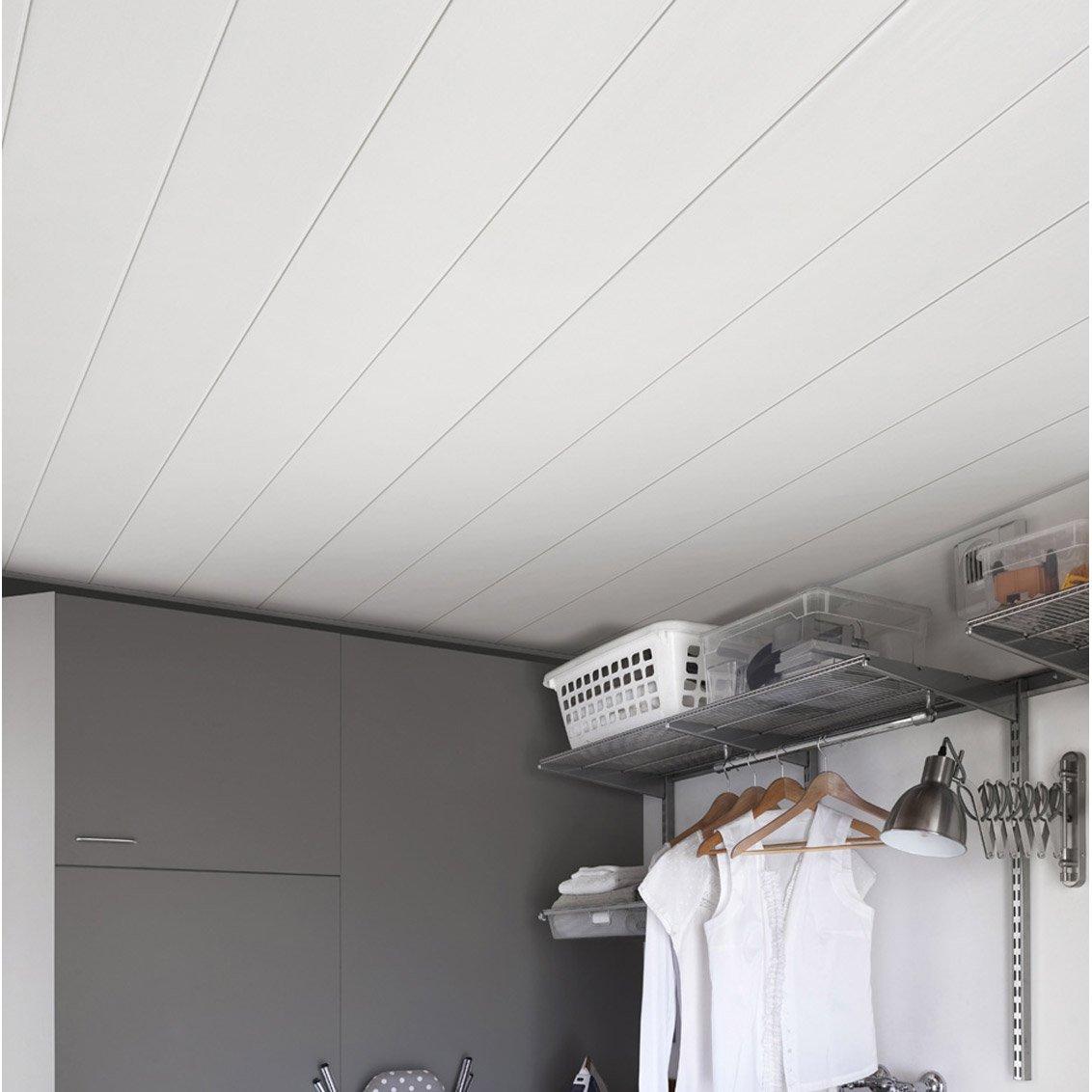 lambris pvc blanc brut grosfillex l400 x l375 cm x ep8 mm