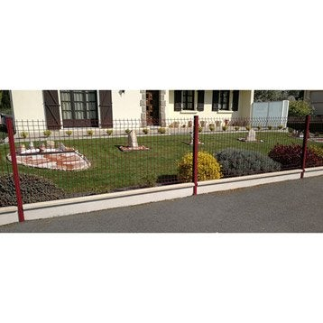 Plaque pour finition de clôture en béton pleine, L.253.5 x H.25 cm x Ep.43 mm