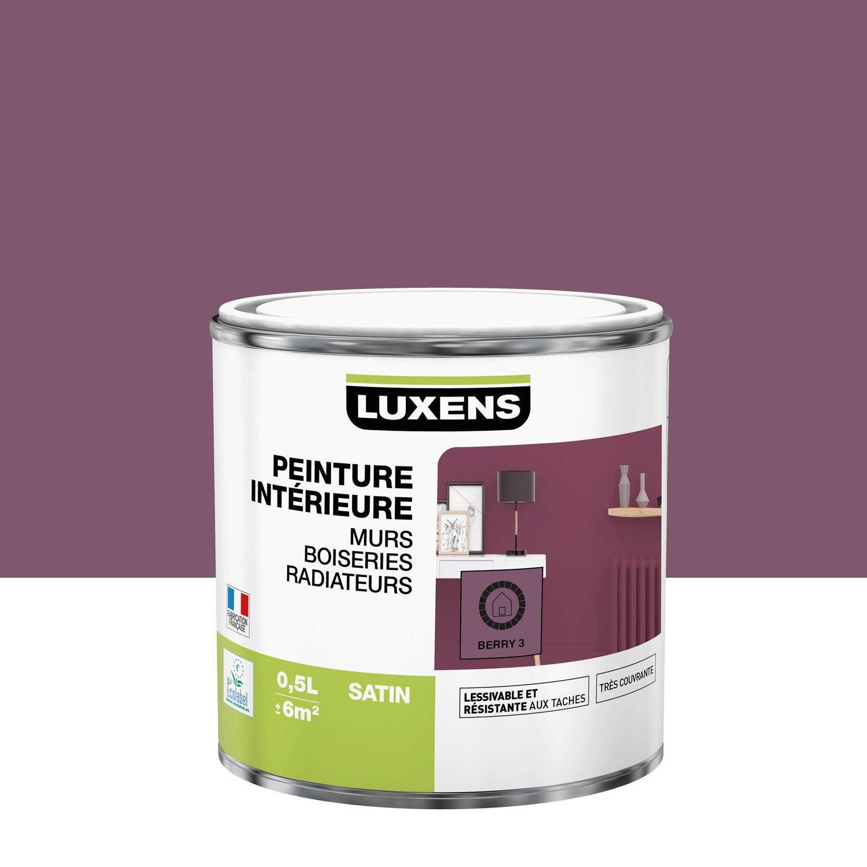 Peinture mur, boiserie, radiateur Multisupports LUXENS, berry 3, 0.5 l, satin