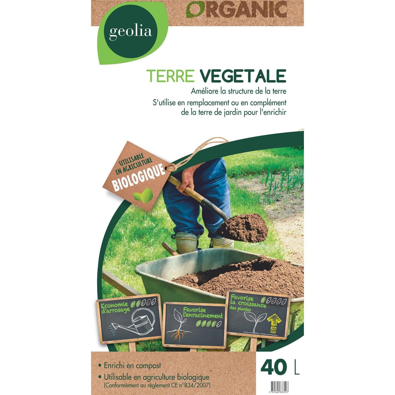 Terre végétale universel GEOLIA, 40 l   Leroy Merlin