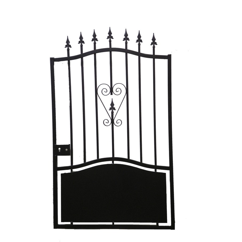 Portillon Battant Fer Colombe Noir L 100x H 144 Cm