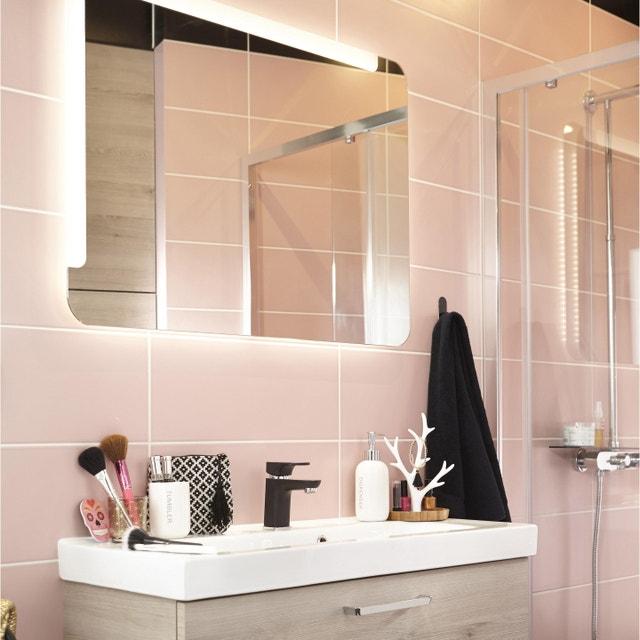 Ma salle de bains en rose et noir | Leroy Merlin
