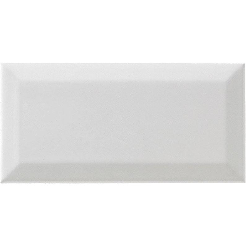 Carrelage mur uni blanc brillante l.7.5 x L.15 cm, Metro ARTENS ...