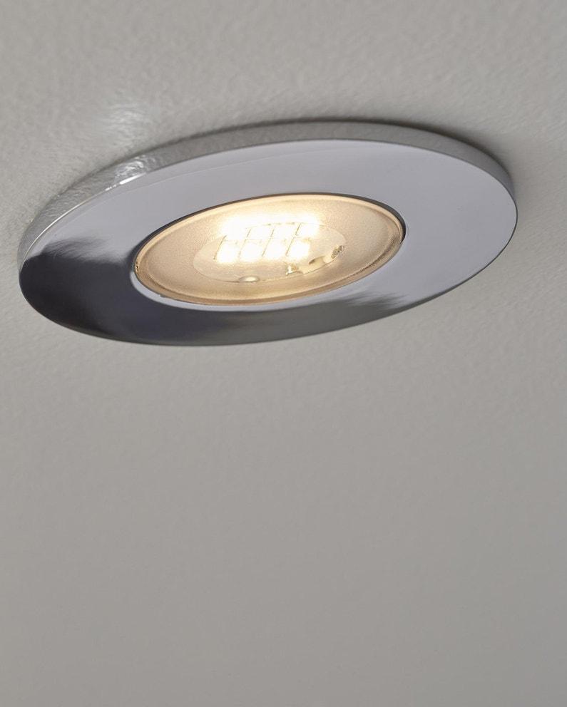 Kit 3 spots à encastrer salle de bains Kilia fixe INSPIRE LED intégrée  chrome